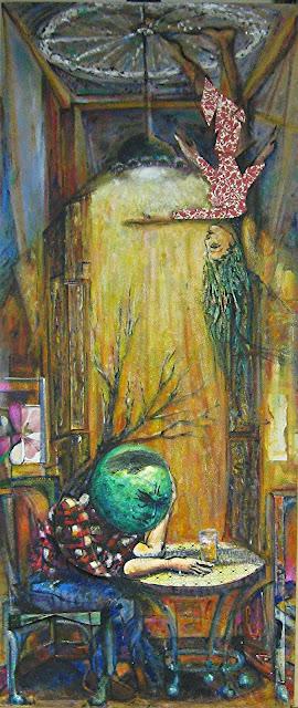 Cuadro Cada uno su razón, obra original de Juan Sánchez Sotelo. Acrílico y técnica mixta sobre madera. Artistas6 academia de dibujo y pintura de Madrid. Clases y cursos para aprender a dibujar y pintar. Venta de obra original abstracta y figurativa.