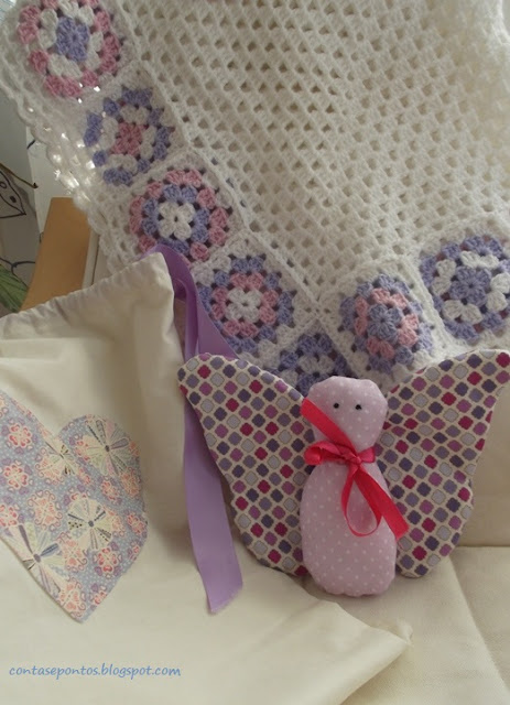 manta de bebe, crochet, granny squares