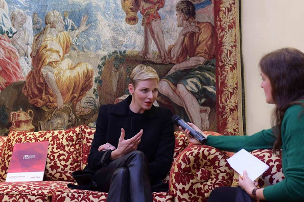 Princess Charlene Attended Healthcare Workers Annual Conference