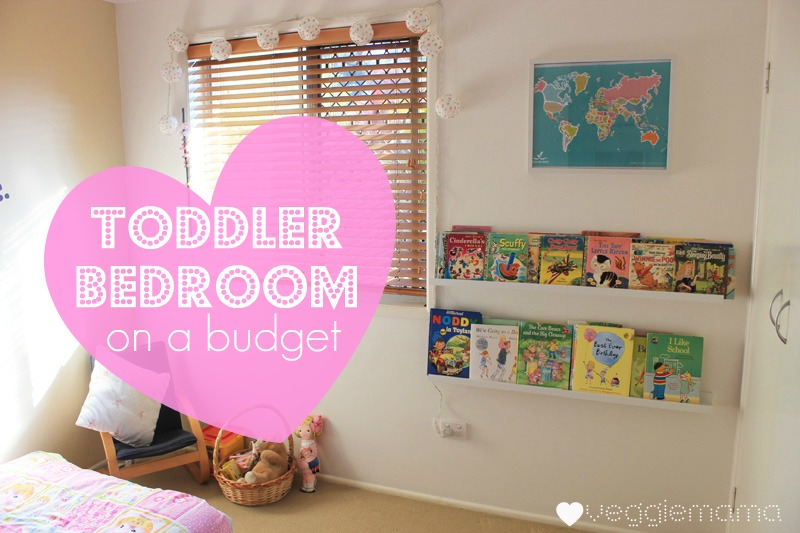 decorating a toddler's room on a budget | veggie mama