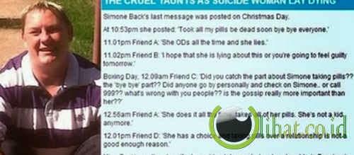 Membuat status bunuh diri tapi tidak ada yang perduli