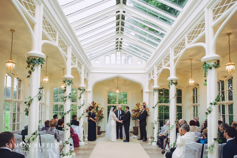 Wedding in the Orangery at St Audries Park