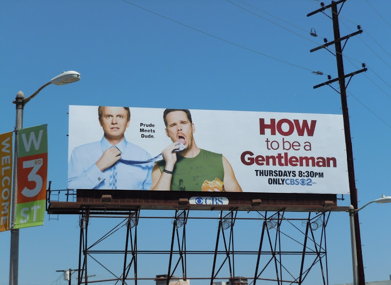 How to be a Gentleman TV billboard