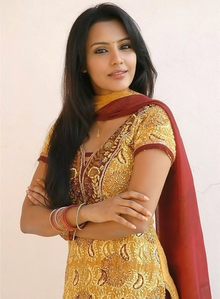 Priya Anand in Red Churidar and Yellow Shirt Photoshoot - Tolly Girls Online