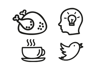 Hand drawn icons from Freepic