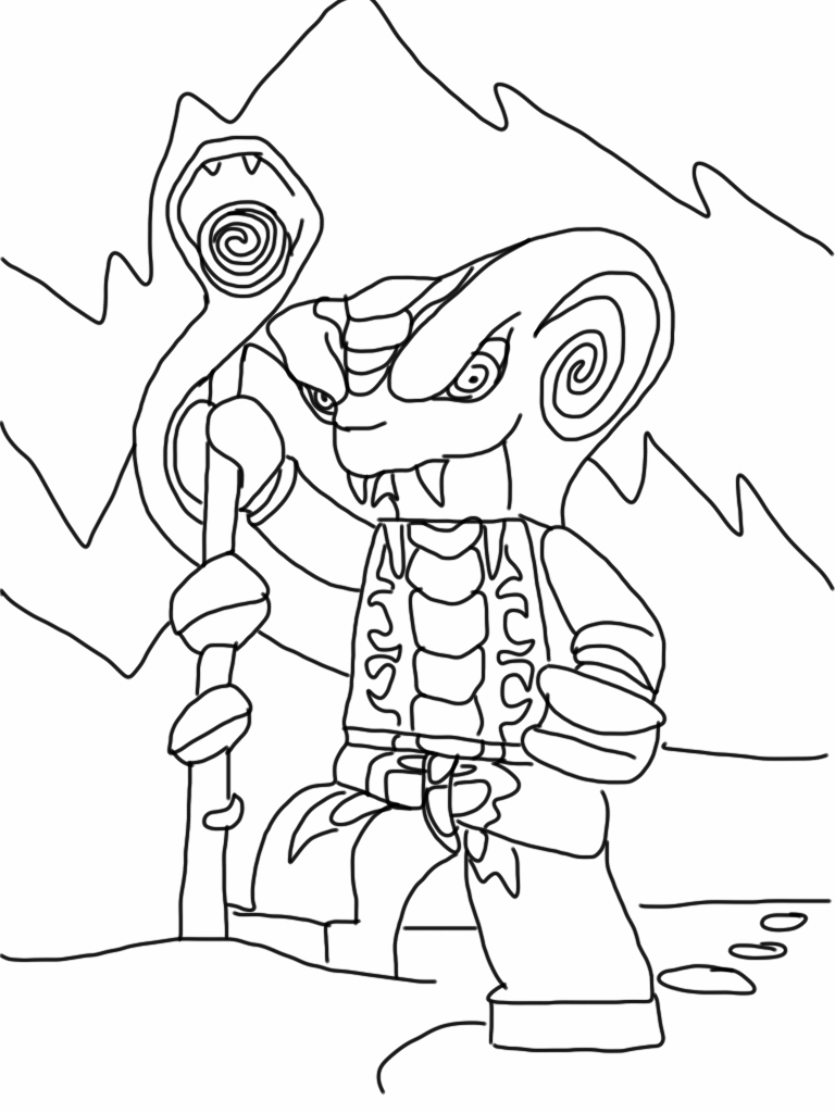 free coloring pages of lord garmadon