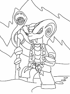 Lego Ninjago Rise of the Snakes Coloring Page