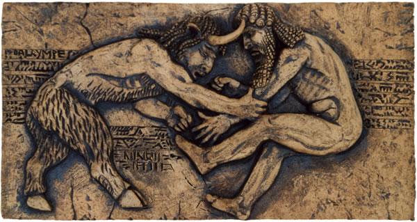 Duelo entre Gilgamesh y EnkiduEpic Of Gilgamesh