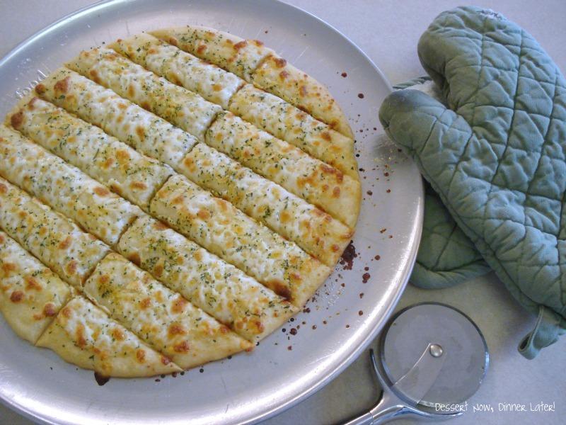 Garlic Cheese Sticks with Marinara - Dessert Now, Dinner Later!