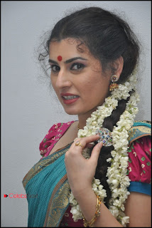 Archana (Veda) Latest Pictures in Saree at Maha Bhaktha Siriyala Audio Release 0021