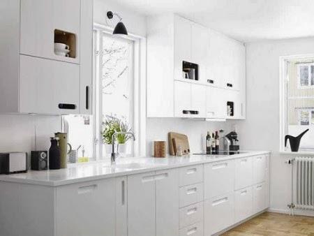 Recortes decorados puro blanco cocinas - Cocinas blancas ikea ...