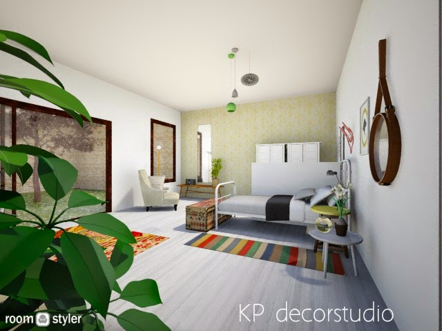 Interiorista Dormitorio juvenil estilo escandinavo vintage