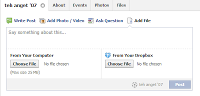 Add file to Facebook Group