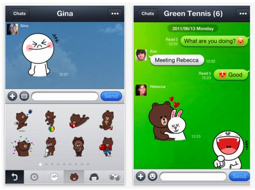 line sticker lucu