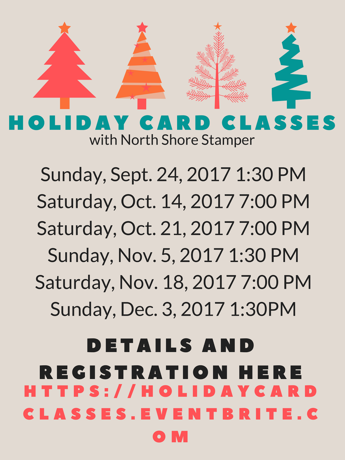Holiday Classes Are Here