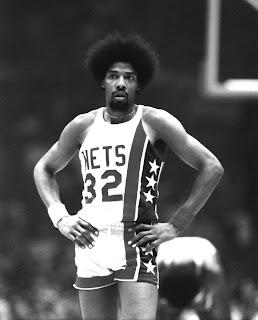 Julius Erving, Dr. J., New York Nets, ABA, afro
