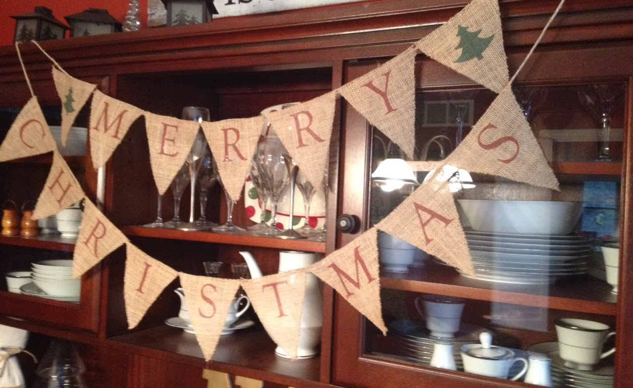 if youd like a merry christmas banner but dont have the time supplies or desire to make it we can two it for you the burlap christmas banner is now - Merry Christmas Burlap Banner