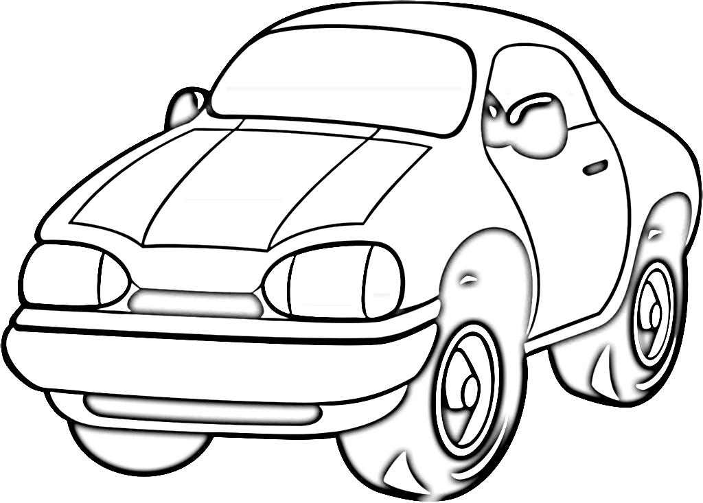 Car - coloring picture - gambar belajar mewarnai mobil 5