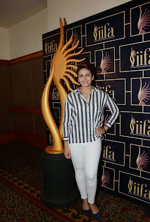 Huma Qureshi Pictures in White Jeans at 16th IIFA Awards 2015 Press Meet ~ Celebs Next