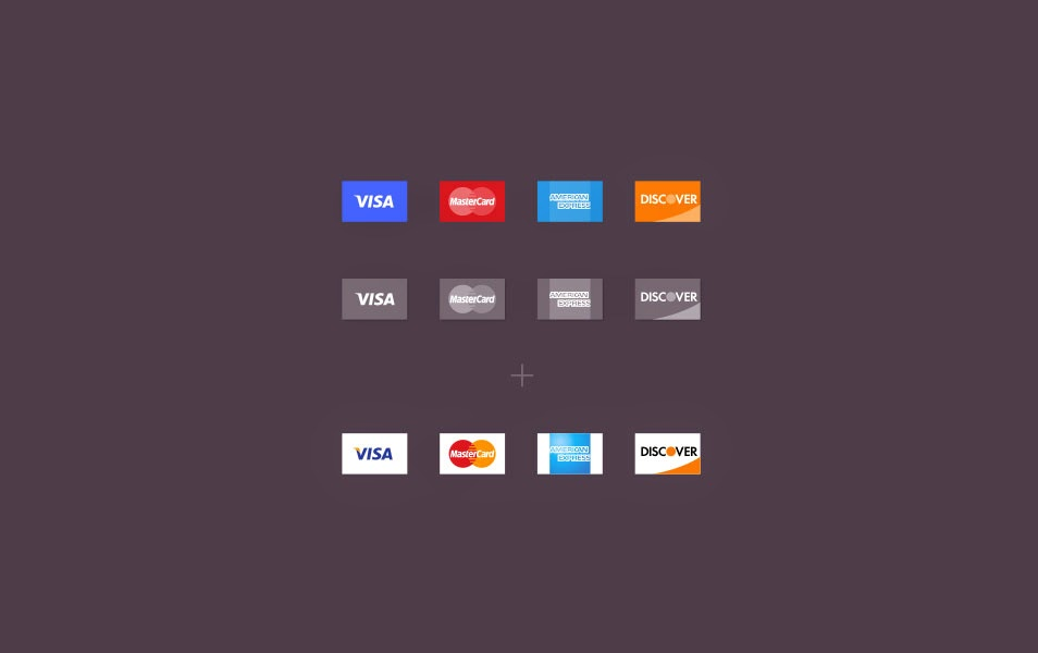 Free PSD Credit Card Icons