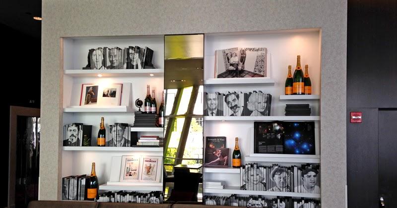 DIY idea: bookshelf wall at The Wit