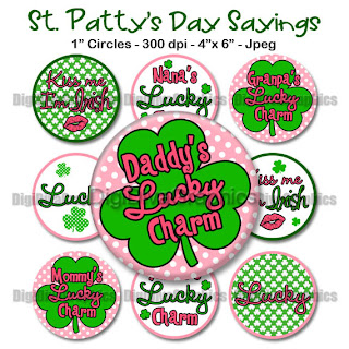 Girly Collage sheet St. Patrick's Day
