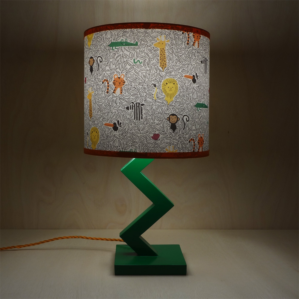 25cm drum lampshade with jungle pattern from Lisa Jones Studio