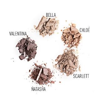 5 Brow Powder Shades: Bella, Chloé, Scarlett, Natasha & Valentina