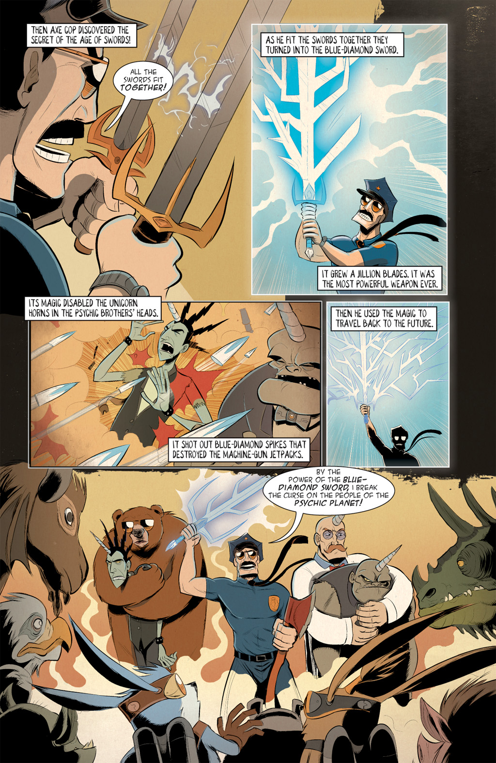 Read online Axe Cop: Bad Guy Earth comic -  Issue #3 - 16