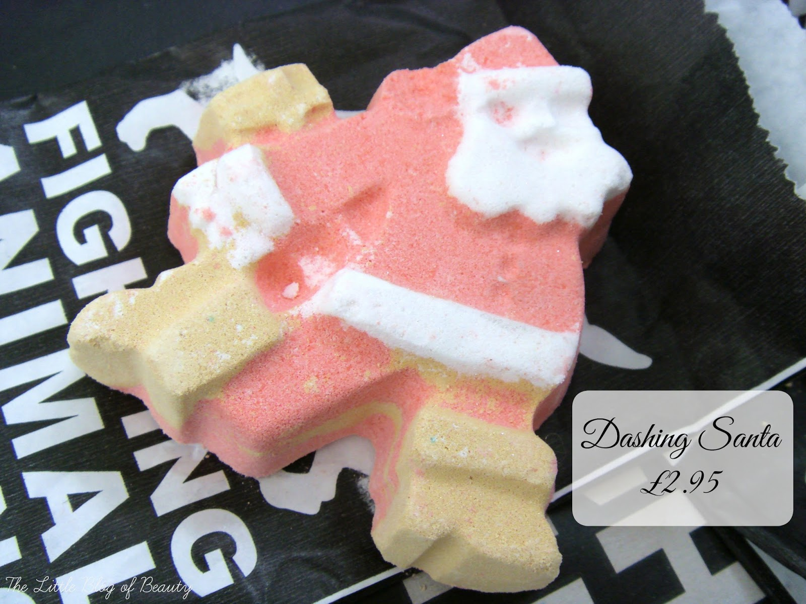 Lush Dashing Santa Christmas bath bomb