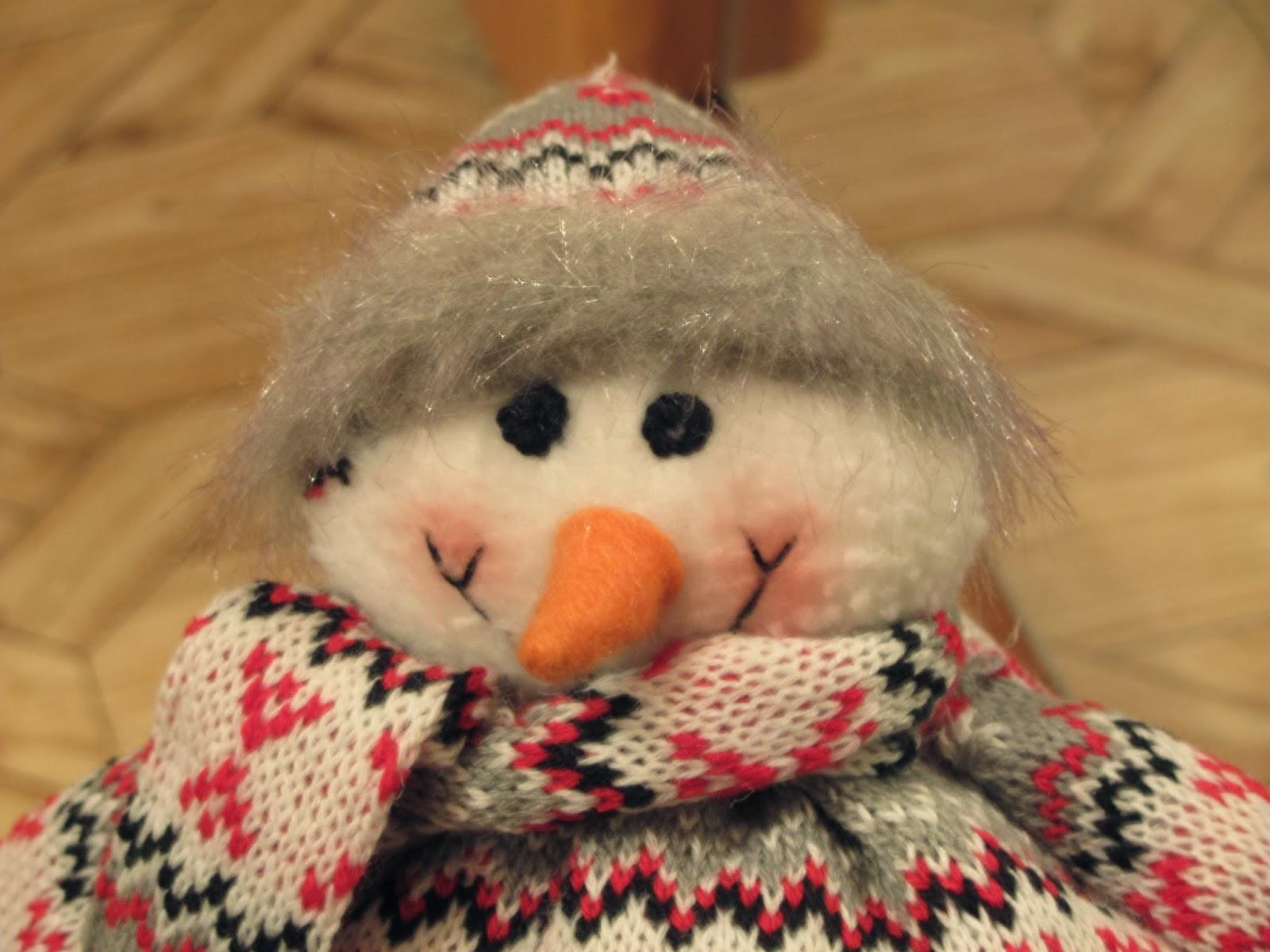Прикольный снеговик своими руками