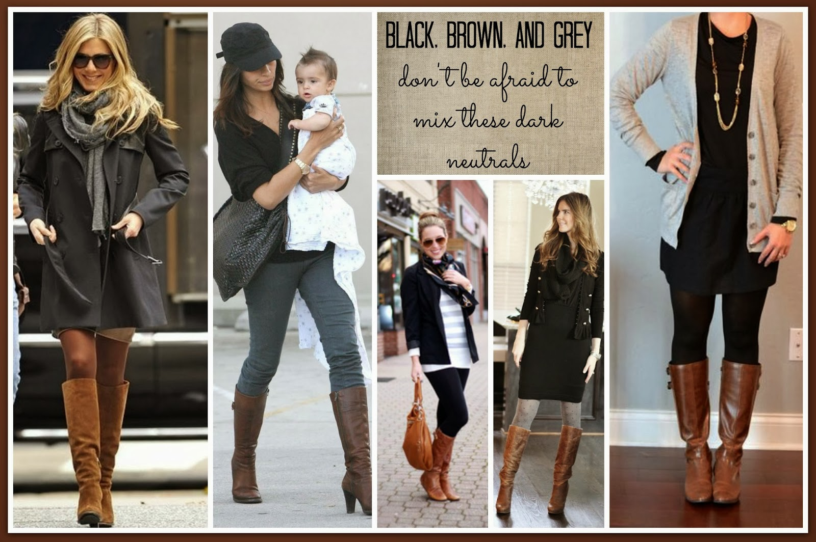 Black, Brown, And Grey Collage