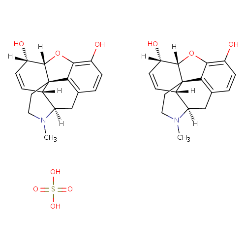 Gambar Struktur Morfin Sulfat (Morphine Sulphate)