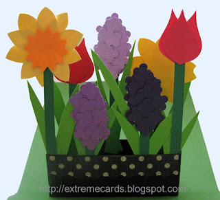 flower box pop up card