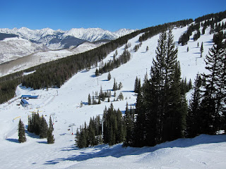 A view of Mid-Vail from the top of Look Ma