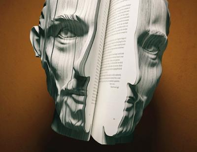 Van Gogh Escultura em Livro Hábitos de Leitura