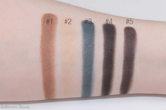 Yves Saint Laurent Fétiche Eye Eyeshadow Couture Palette Collector Cuirs Fétiches Leather Fetish Collection Fall 2014 swatches in studio lighting with forced flash