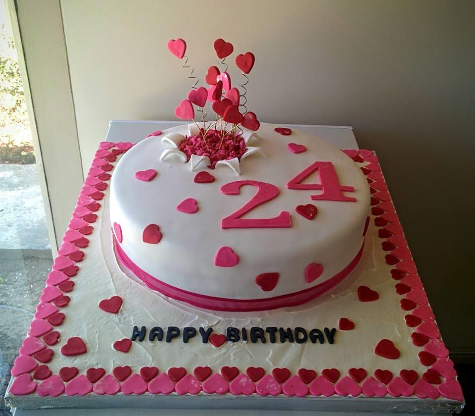 Paty Cake Designer 24th Birthday Cake