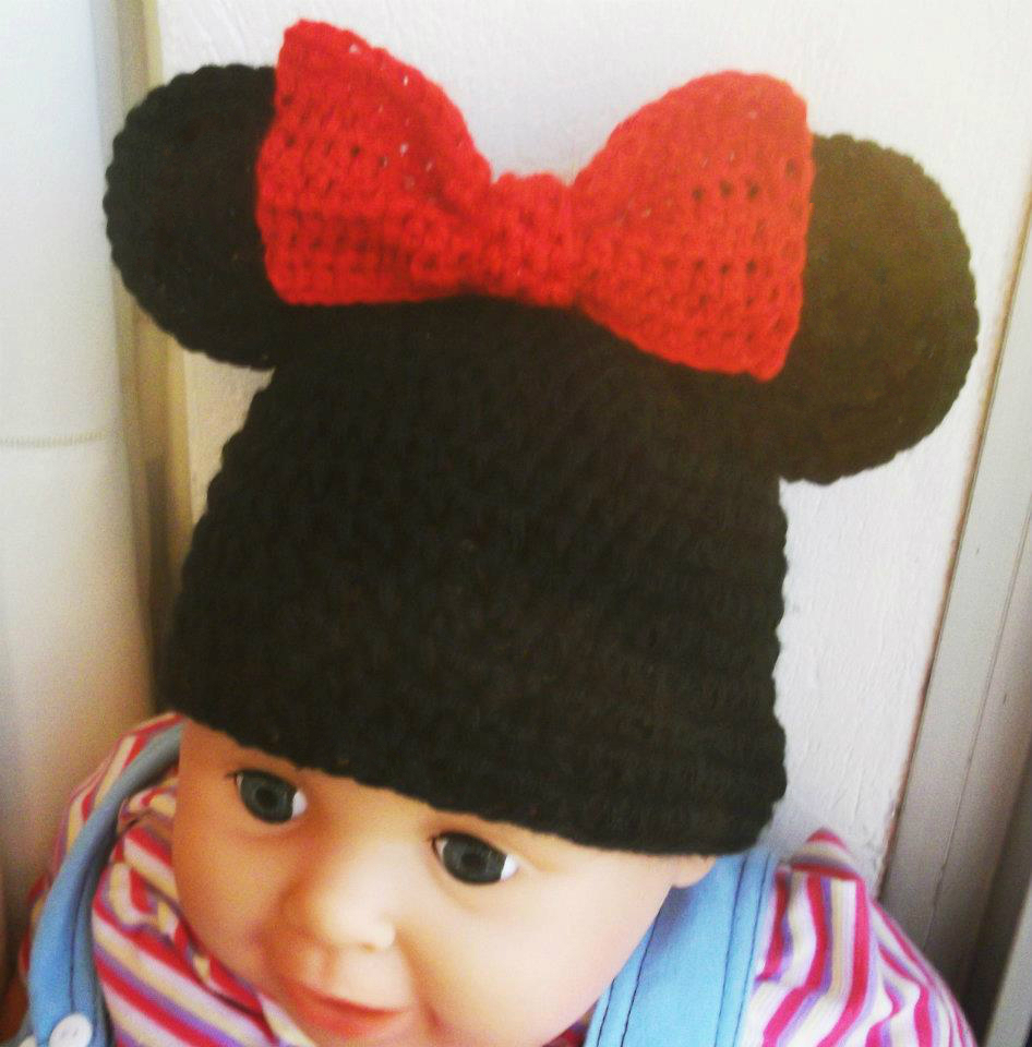 Knitting Pattern Mouse Hat : Minnie Mouse Knit Hat Pattern Joy Studio Design Gallery - Best Design