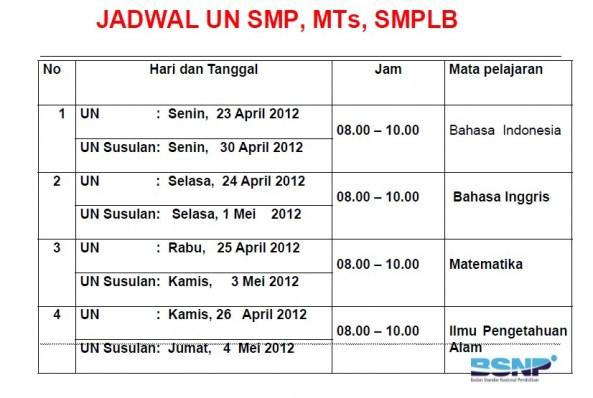 Sdn Tunas Karya Parongpong Bandung Barat Jadwal Un Sd Smp Sma Ma Smk Surat Edaran Un 2011