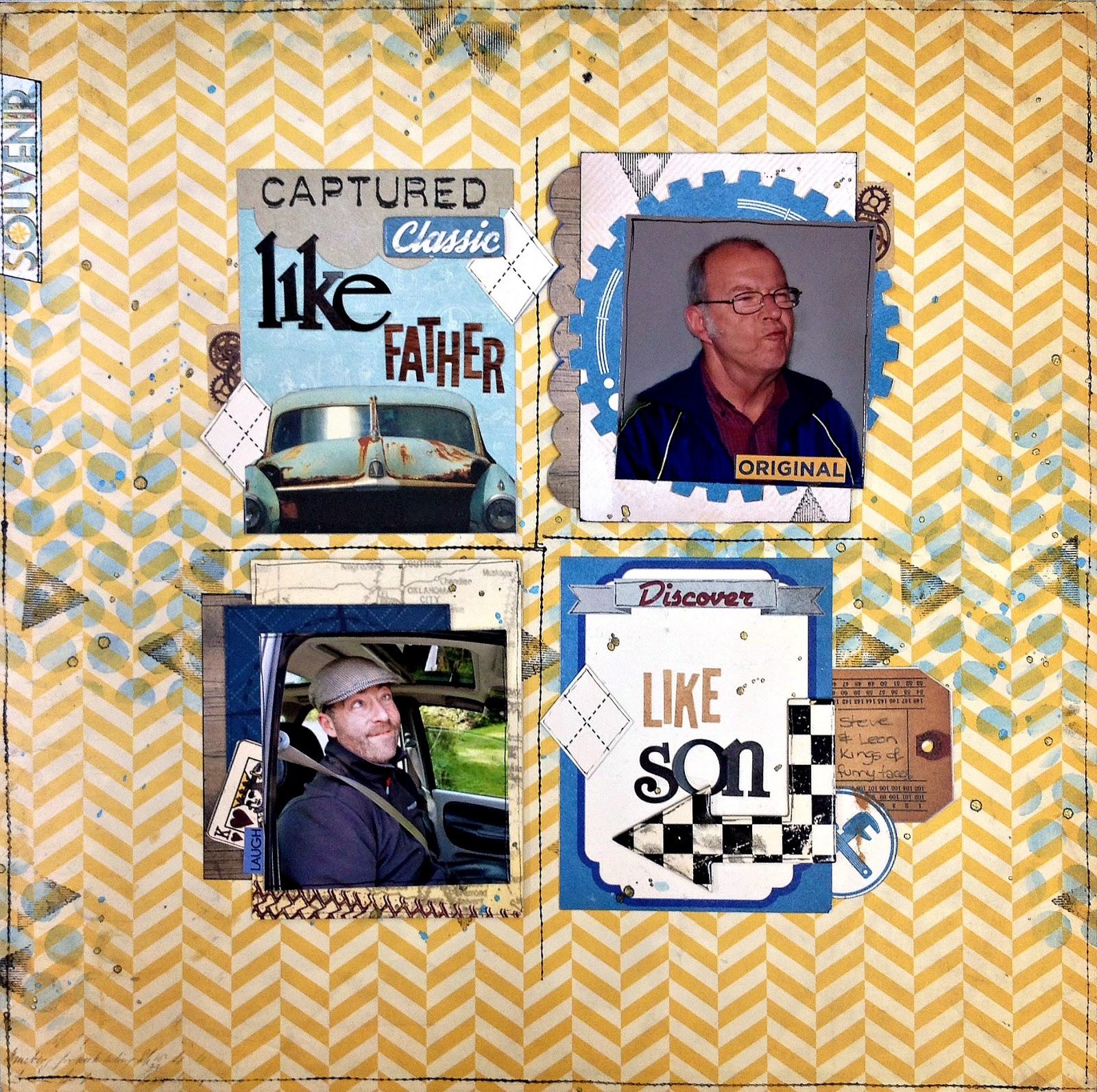 like father like son scrapbook page tracee provis bo bunny wild card souvenir 01