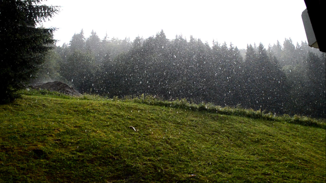 rain pouring down in Morzine