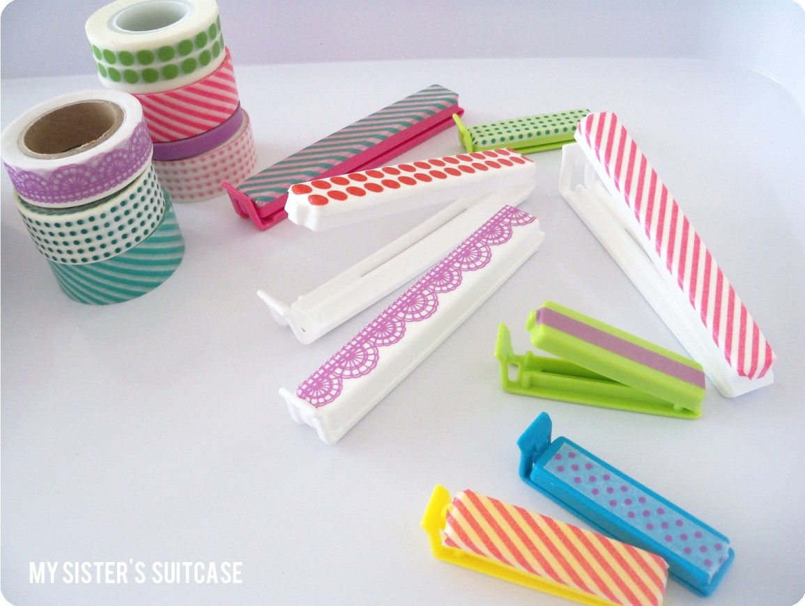 Washi Tape Week Day 1 Kitchen Organization My Sister