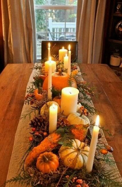 CALABAZAS & VELAS - THANKSGIVING DAY