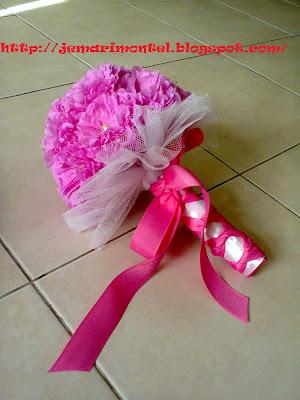 bunga pegang murah, crepe, pengantin