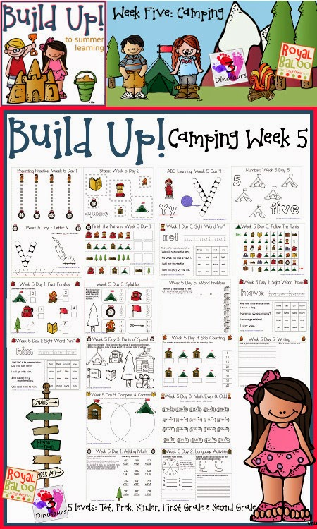 FREE Printable Leveled Camping Themed Learning Pack From 3Dinosaurs