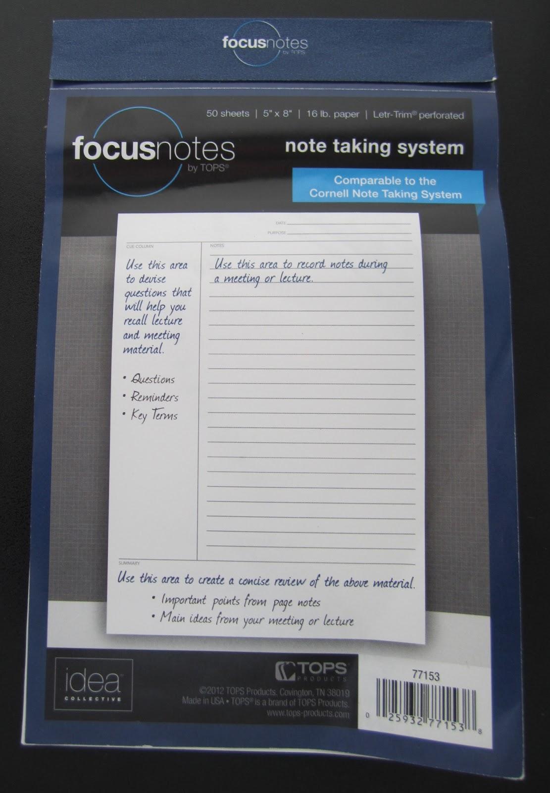 focus notes