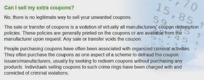 Is selling coupons illegal