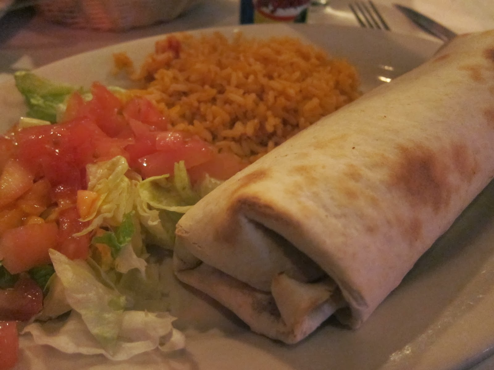 Vegetarian Burrito from Fajitas & 'Ritas | The Economical Eater