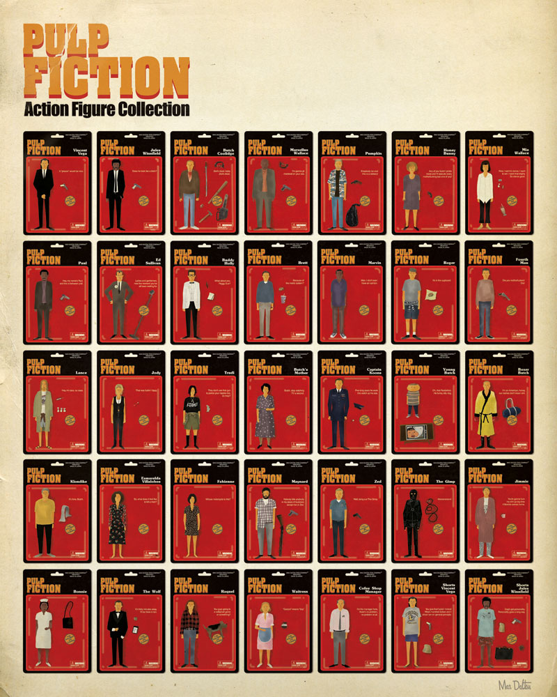 Pulp Fiction Action Figures Poster